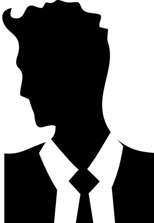 Young Businessman Handsome man logo