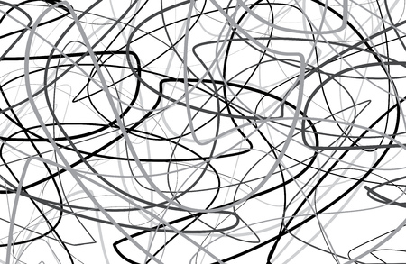 Scribble black and white  Background Vectores