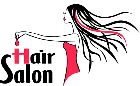 Modern Hair Salon Logo 版權商用圖片 - 36310337