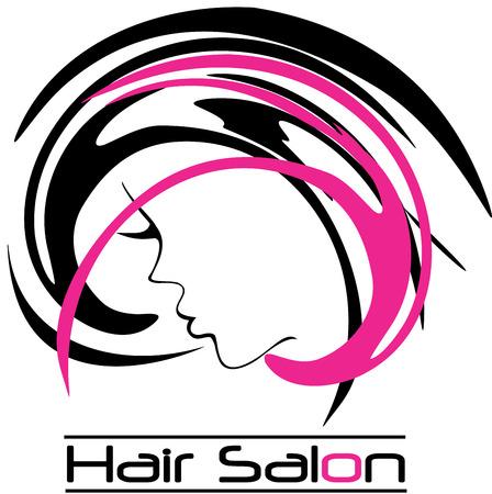 beauty women: Moderno Logo Hair Salon Vectores