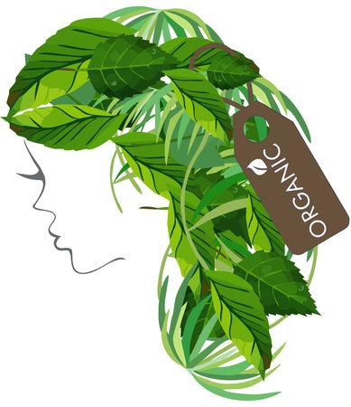 현대 헤어 살롱 Organic Logo