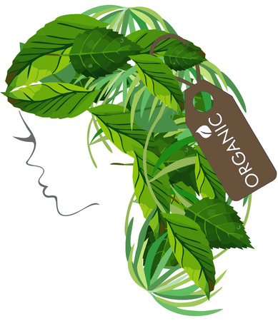 Modern Hair Salon Organic Logo