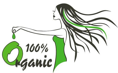 manicure pink: Modern organic Logo