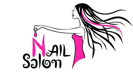 nail salon: Modern Nail Salon Logo