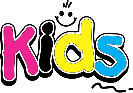 bambini che giocano: Bambini logo Vettoriali