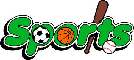 Sport logo baseball, basketbal voetbal Stock Illustratie