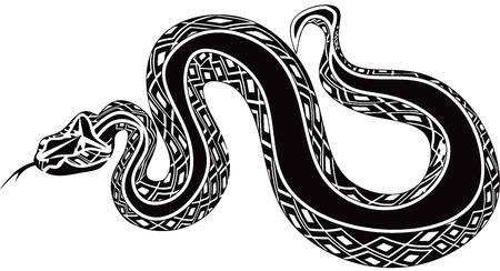 巨大なヘビ  イラスト・ベクター素材