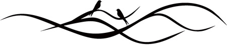 branches: Tree Branch with two birds Illustration