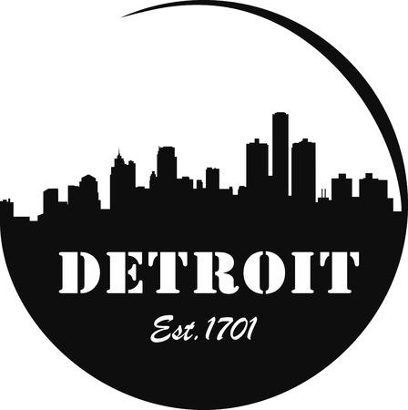 Detroit Skyline Logo