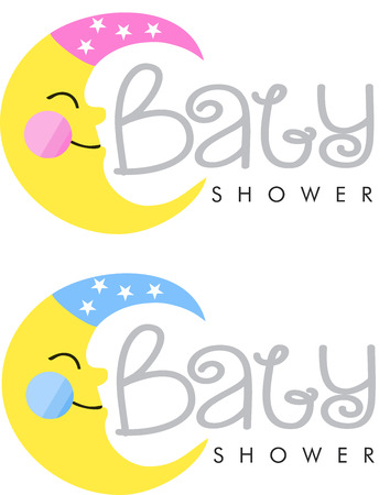 Baby Shower Unisex Logo Royalty Free Cliparts Vectors And Stock
