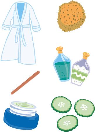 massage symbol: Spa Items Illustrations Illustration