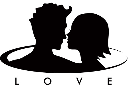sexy young woman: Couple in Love Logo
