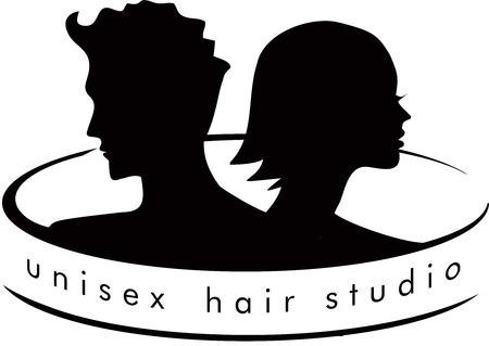 ユニセックスの髪サロン ロゴ