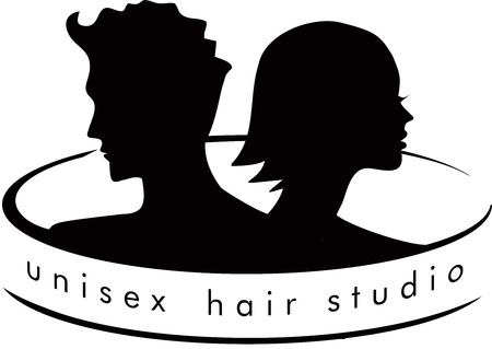 Unisex Hair Salon Logo Archivio Fotografico - 43545723