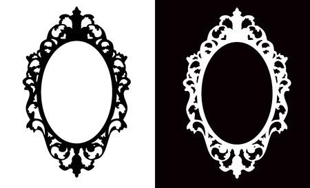 óvalo: Marco oval de la vendimia Vectores