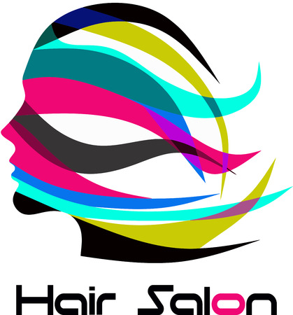 beautiful hair: Hair Salon Logo