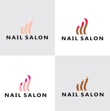 Nagelsalon Logo Stock Illustratie