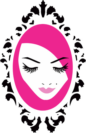 Beauty Logo Wimpern Standard-Bild - 43416823
