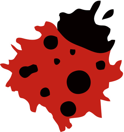 lady bug: Lady Bug Logo Illustration
