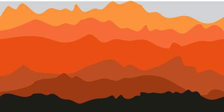 Sunset landscape vector: Mountaions Arizona nền