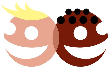 interracial: Kids, Friends Logo Interracial