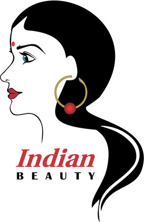 vector girl: Indian Hindu Beauty Hair salon