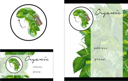 Beauty Organic Salon Logo, Business Card Design and Brochure