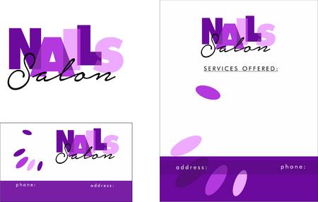 Beauty Salon Logo, Business Card Design and Brochure Illusztráció