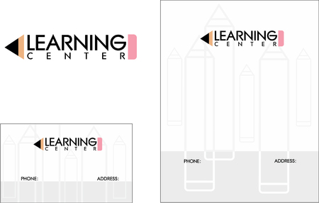 Onderwijs, Boeken, Business Card Ontwerp en Brochure