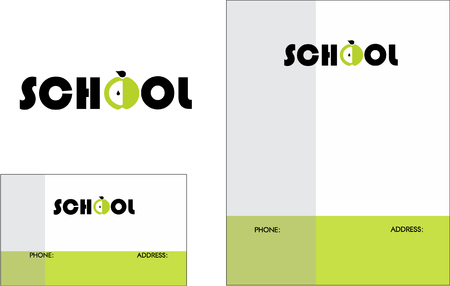 business education: Education, Books, Business Card Design and Brochure