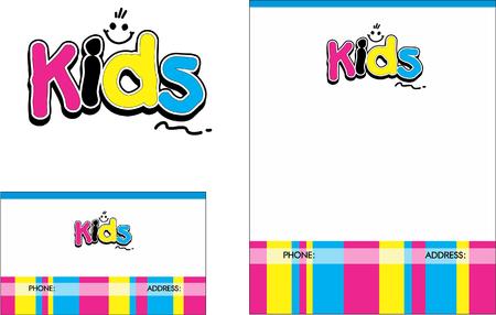 Kids, Education, Books, Business Card Design and  Brochure Illustration