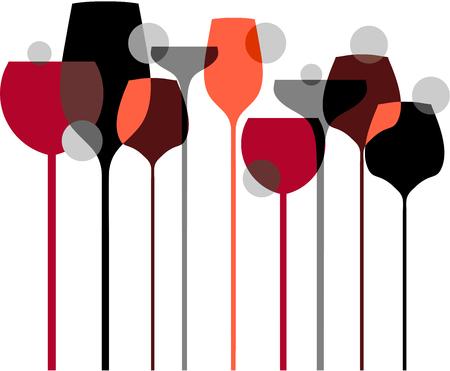 Verres à vin Banque d'images - 53681576