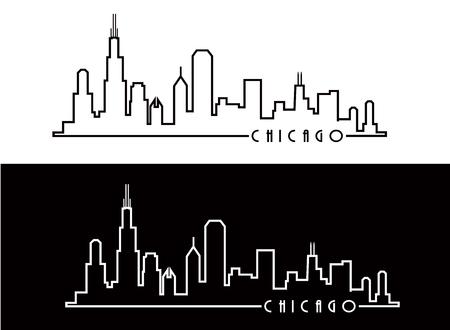 Chicago Skyline  イラスト・ベクター素材
