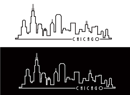 Chicago Skyline Ilustração