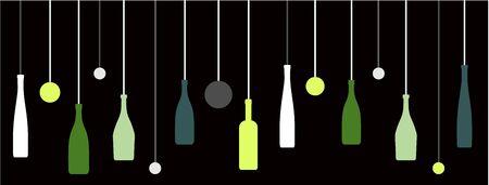 Weinflaschen Schnaps logo Standard-Bild - 60556773