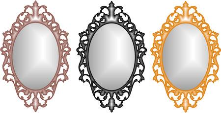 ovalo: Espejo barroco Vectores