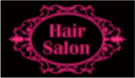Hair Salon Symbol Standard-Bild - 55079682