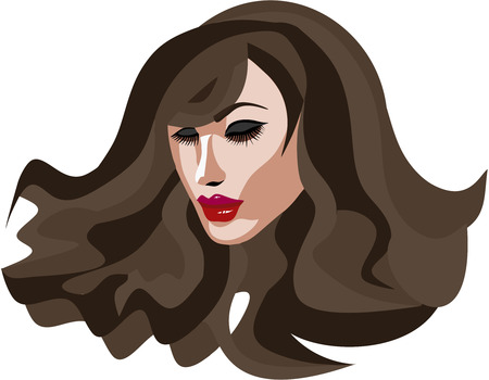 long eyelashes: Beautiful Brunette woman with long eyelashes