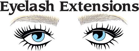 Blue eyes eyebrows woman eyelash extentions