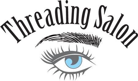 Threading salon Illustration