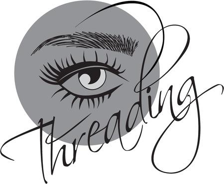 estensioni delle ciglia, sopracciglia threading