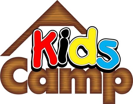 Summer Kids Camp Logo Vectores