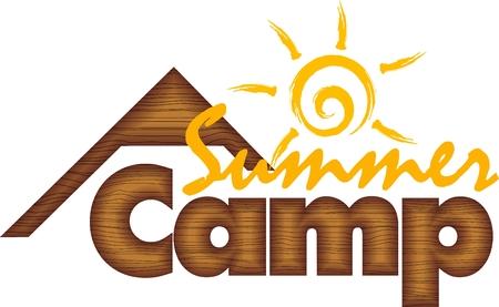 Summer Kids Camp Logo Stock Illustratie