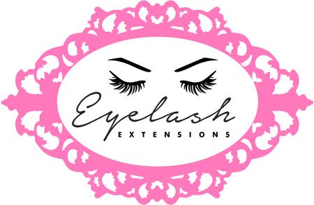 Logotipo de extensiones de pestañas