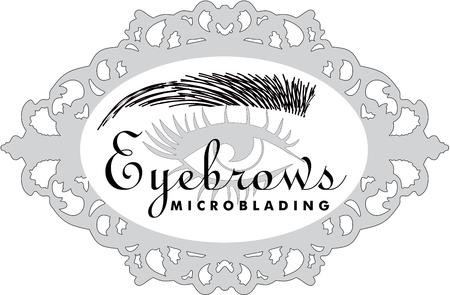 Eyebrows Microblading Stock Illustratie
