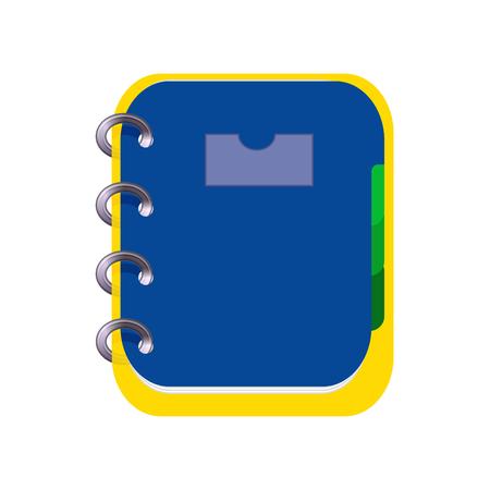 spiral notebook: Spiral Notebook Icon Symbol Design. Illustration