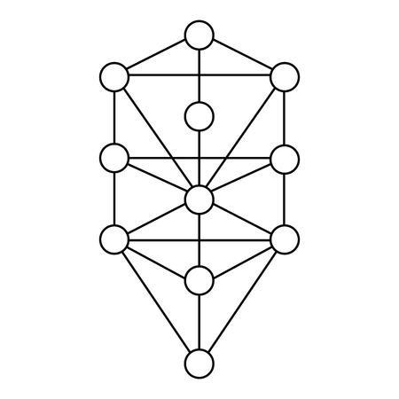 The Kabbalah Tree of Life icon symbol design.