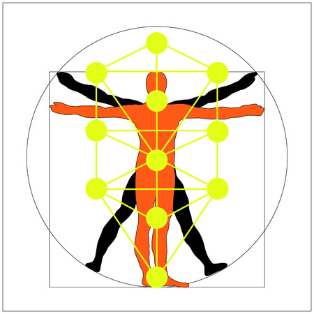 numerology: man icon symbol design. Illustration