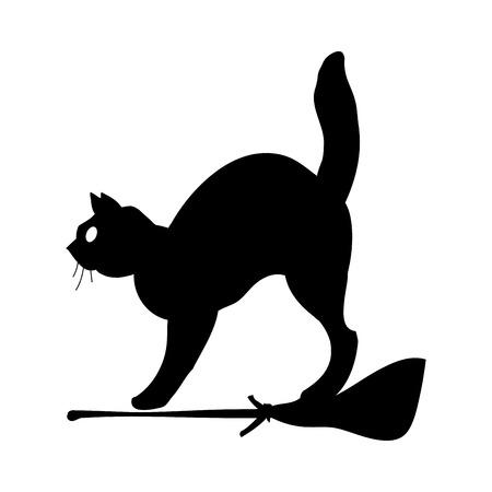 Cat Silhouette icona simbolo Design.