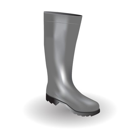 welly: Rain boot icon symbol design. Illustration isolated on white background - gray rubber boot Illustration